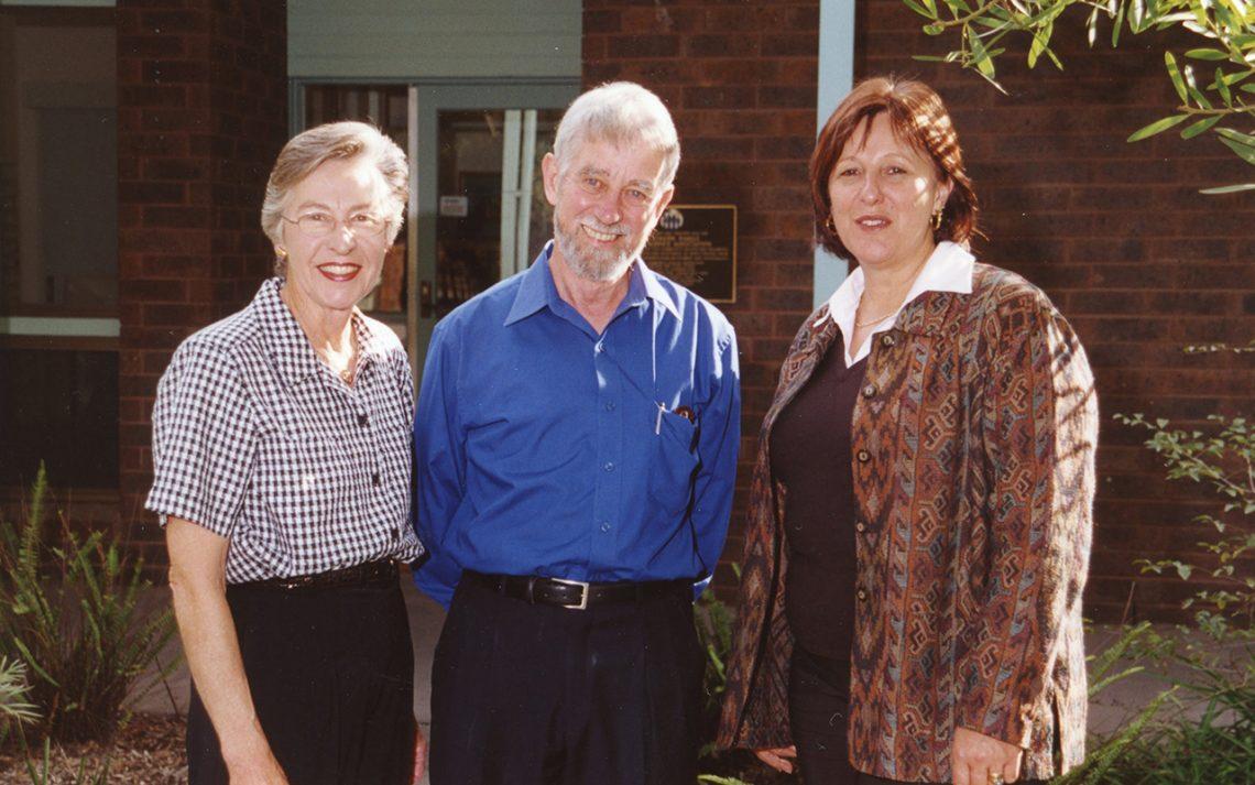 Pat, Roger Riordan and Jo Cavanagh OAM.